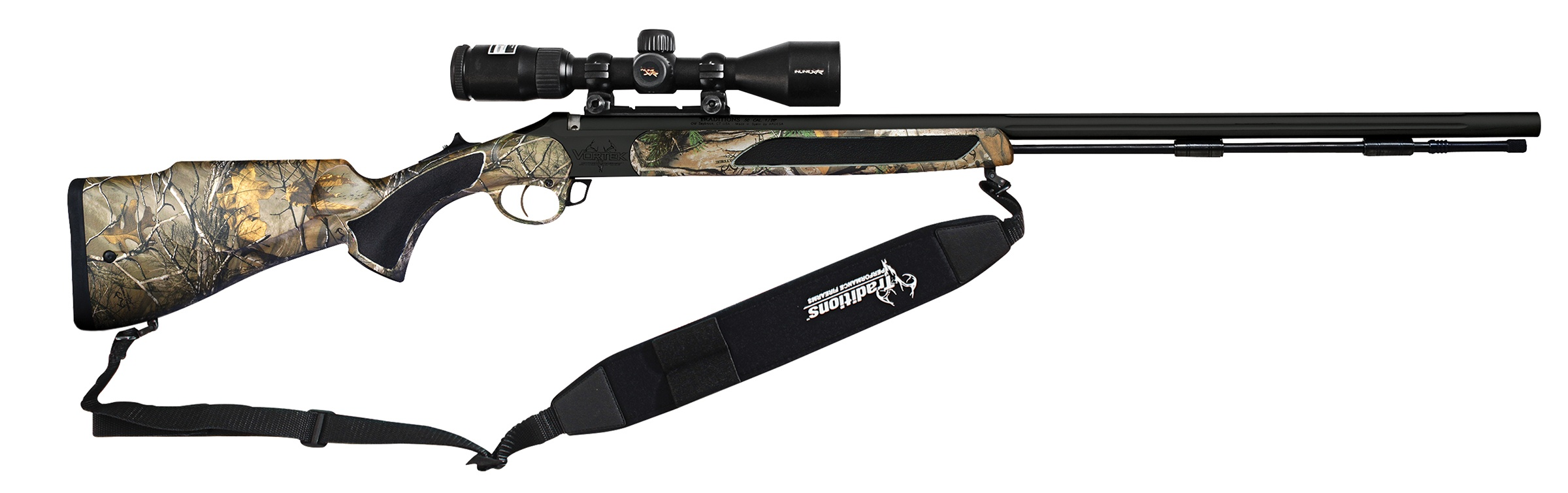 Traditions  50 Cal Crush Package Vortek StrikerFire Muzzleloader with 28