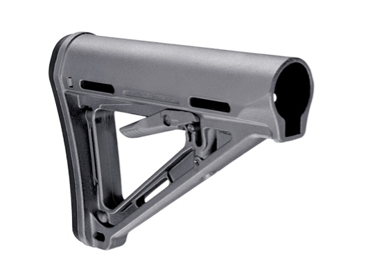 Magpul MOE Carbine Stock Fits AR-15 Mil-Spec Gray Finish MAG400-GRY