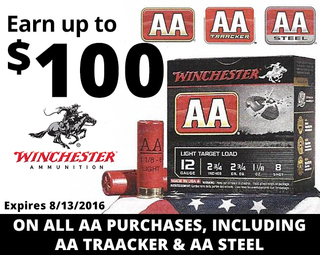 Up To $100 Winchester Ammo Check!