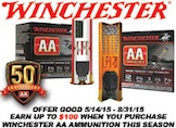 Winchester Earn Up to $100 on AA Ammo