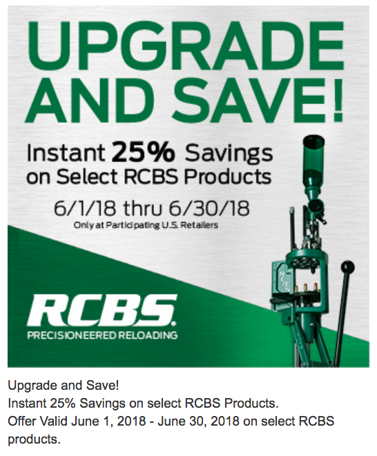 RCBS Upgrade & Save