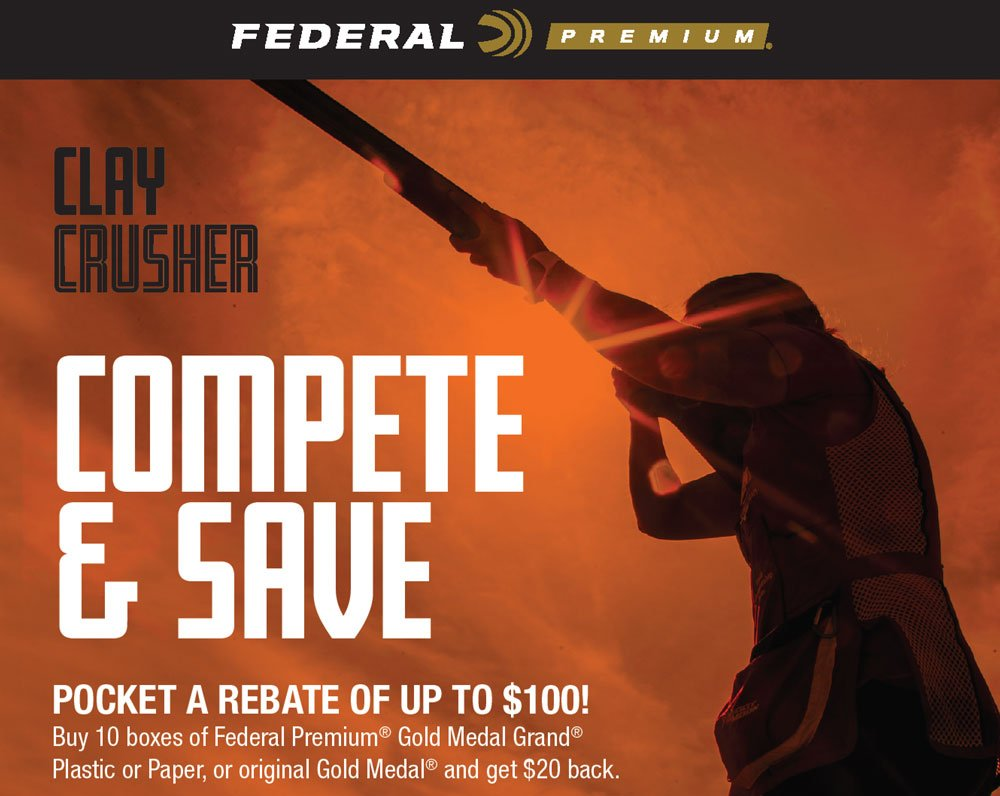 Federal Clay Crusher Range Rebate