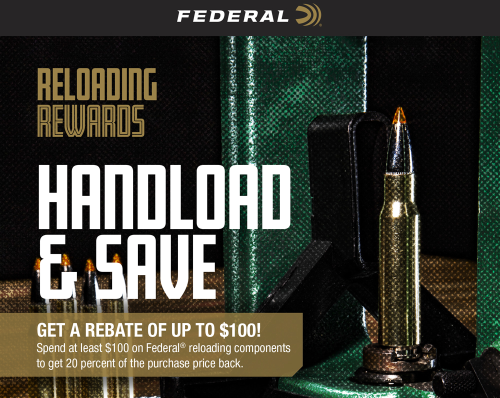 Federal Handload and Save Mail in Rebate