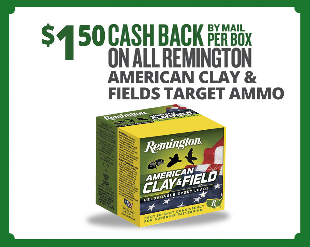 Remington American Clay Cash Back Summer Event