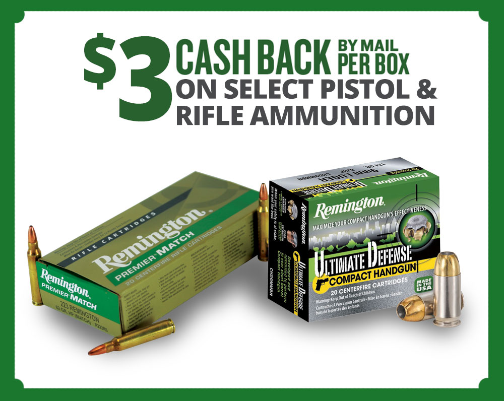 Remington Pistol & Rifle Cash Back Summer Event