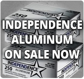 Independence Aluminum Cased Ammo on Sale