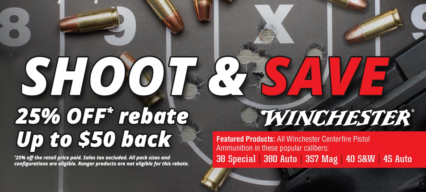 Winchester Rebate up to $50 back