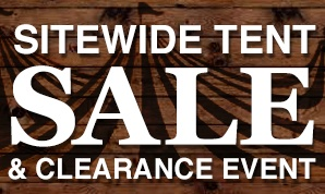 Clearance Tent Sale Now